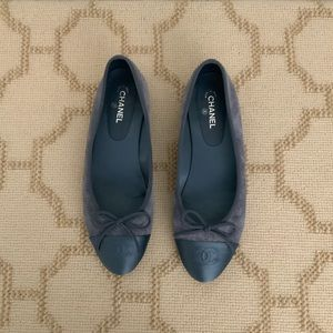 Denim Suade Chanel Flats